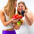 Healthy eating - women, fruits and vegetables — Stock Photo #71520765
