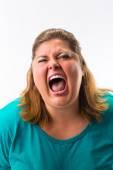 Woman screaming loud — Stock Photo