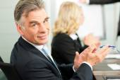 Applause for a presentation in business meeting — Stock Photo