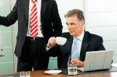 Business - presentation within a team — Fotografia Stock