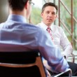 Man and CEO in job interview — Stock Photo #72765707