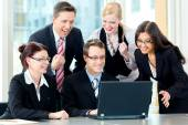 Business - businesspeople have team meeting in an office — Stock Photo