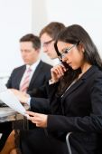 Business people during meeting in office — Stock Photo