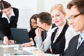 Business - businesspeople, meeting and presentation in office — Stock Photo