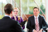 Manager and partner employment job — Stock Photo
