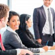 Businesspeople having a meeting in modern office — Stock Photo #72931709