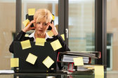 Stress in the office - multi tasking — Stock Photo