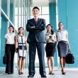 Asian business team marching — Stock Photo #73120877