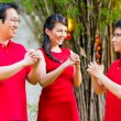 Family celebrating Chinese new year — Stock Photo #79215072