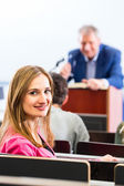 College professor giving lecture for students — Stock Photo