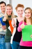 College students passed examination — Stock Photo