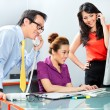Office team working hard for a business success — Stock Photo #79335778