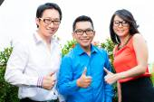 People of asian creative or advertising agency — Stock Photo