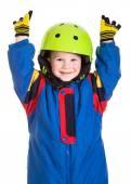 Little boy in sports overalls — Stockfoto