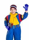 Kleine jongen in sport overalls — Stockfoto