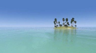 Тропический остров — Стоковое видео