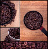 Coffee collage — Foto Stock