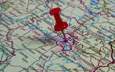 Pin in map — Stock Photo