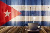Coffee and flag — Stock Photo