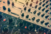 Audio effects processors in a rack. — Stock Photo