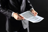 The process of signing new business contract — Stock Photo