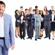 Business man and his team isolated over a white background — Stock Photo #63942039