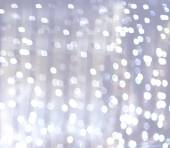 Silver and white bokeh lights defocused. abstract background — Stock Photo