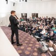 Speaker at Business Conference and Presentation. Audience at the conference hall. — Stock Photo #70725793