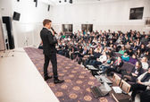 Speaker at Business Conference and Presentation. Audience at the conference hall. — Stock Photo