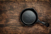 Vintage cast iron skillet — Stock Photo