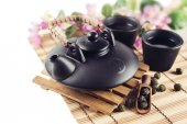 Still Life with Asian teapot — Stock Photo