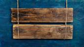 Puste szyld drewniany — Zdjęcie stockowe