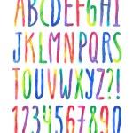 Vector watercolor alphabet — Stock Vector #53053905