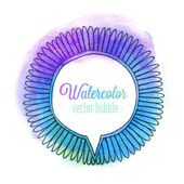 Watercolor bubble. — Stock Vector