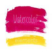 Vector watercolor design elements - Brazil style. — Stock Vector