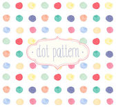 Vector Watercolor seamless dot pattern. — Stock Vector