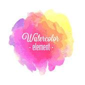 Vector Watercolor design element. — Stock Vector
