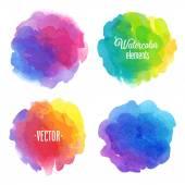 Aquarela design elementos do vetor. — Vetor de Stock