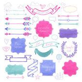 Vector Watercolor design elements. — Stock Vector