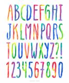 Vector watercolor alphabet — Stock Vector