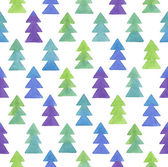 Seamless Christmas watercolor pattern. — Stock Vector