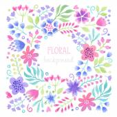 Vector Watercolor floral background. — Stock Vector