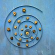 Big clock spring spiral and snail shells concept — Stock Photo #59678009