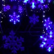 Abstract blue Christmas New Year decoration background — Stock Video #60082287