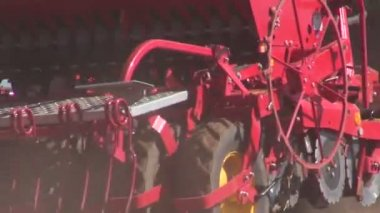 Agriculture tractor on   field seeding  grains — Stock Video