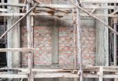 Wooden scaffolding — Stock Photo