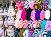 Colorful yarn hat — Stock Photo