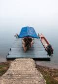 Wooden boat house — Stock Photo