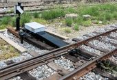 New railroad switch — Stock Photo