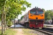 Diesel electric locomotive — Stock Photo
